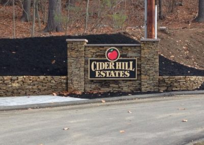 Cider Hill Hardscape Sign