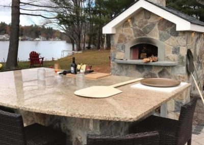Pizza oven and patio table